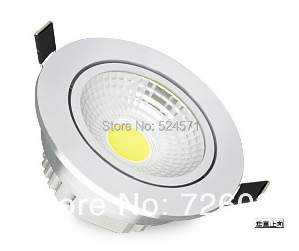 1pcs Dimmable 10W COB LED down light +1pcs led dimmer DHL Free shipping free shipping ip20 2 13w cut out 262 124mm 40degree citizen cob led grille down light