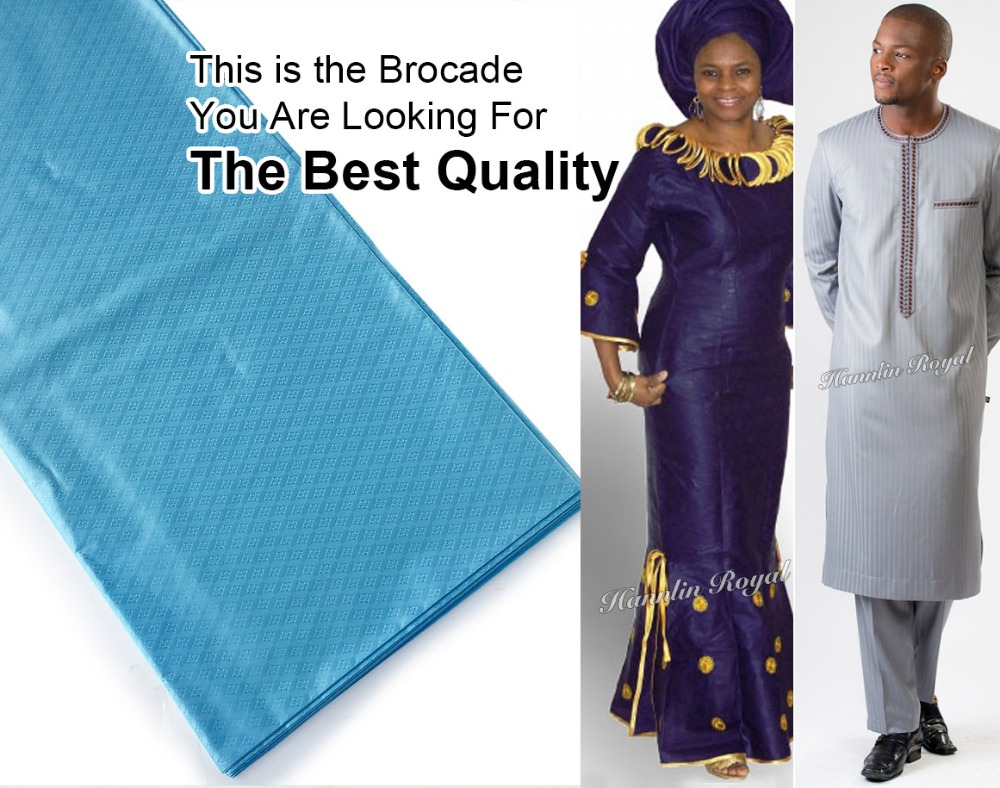 The Best quality 10 yards Atiku lace soft genuine brocade bazin riche fabric 100 cotton for