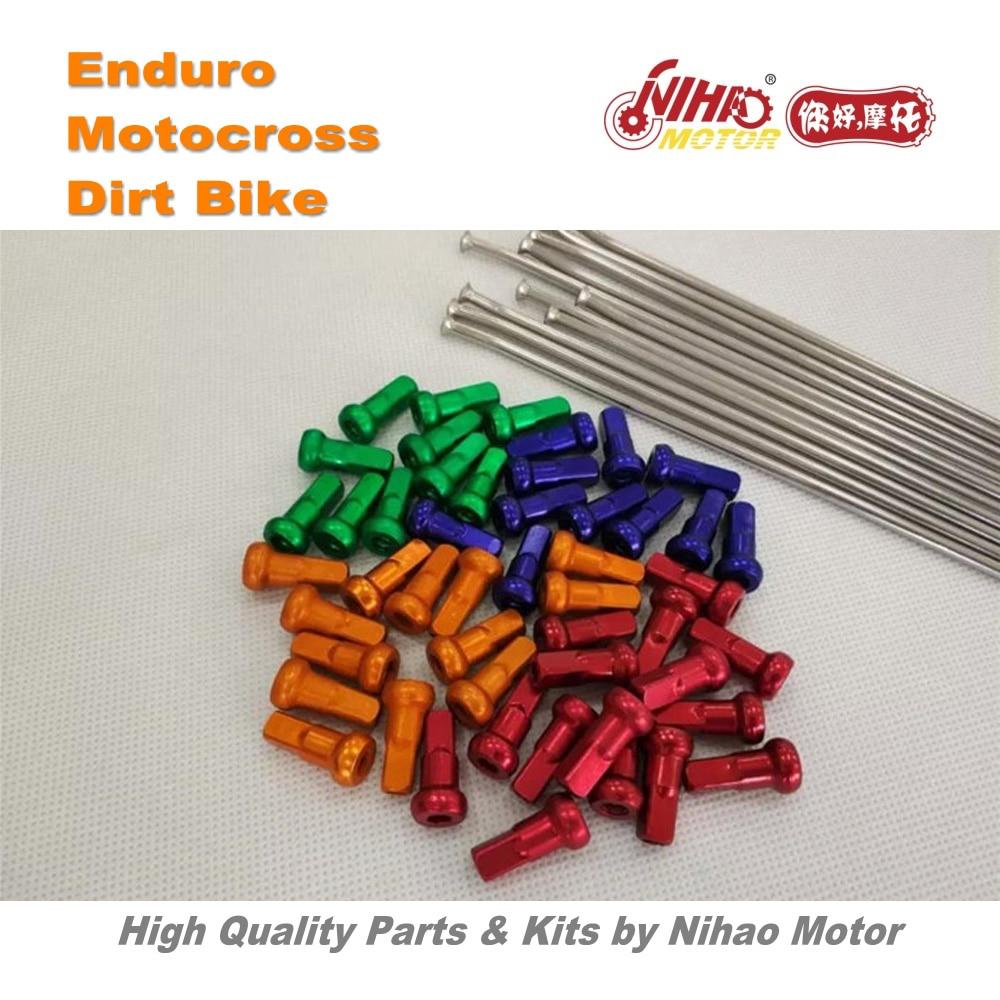 цена на 31 Motocross Parts Universal Front wheel spoke 21 Length 240mm Diameter 3.5mm Enduro Kit Dirt bike spare cross Nihao Motor