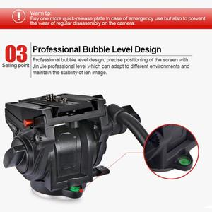 Image 5 - Kingjoy Cabezal de trípode panorámico VT 3510, cabezal de vídeo fluido hidráulico para trípode, monopié, soporte de cámara, soporte móvil SLR DSLR