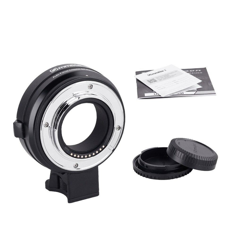 Commlite CM EF FX Aluminium Auto Focus Lens Adapter for Canon EF/EF S to Fujifilm FX Mount Support Auto focus Function Black|Lens Adapter| |  - title=