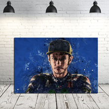 Valentino Rossiyes Motorcycle Racer Portrait Face Art Canvas Poster Oil Painting Wall Picture Print Home Bedroom Decor Artwork