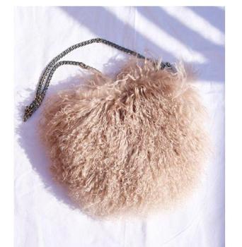 New Fashion Ostrich Wool Party Women Handbags Bag Fashion Shoulder Bag Chain Evening fur clutch female purse crossbody bag