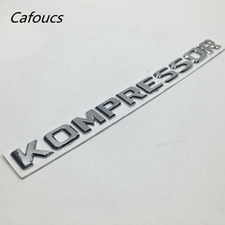 FOR Mercedes Benz Kompressor Emblem Rear Trunk Badge Lettering Chrome Logo Stickers CLK SLK SL CLS ML A B C S R Class