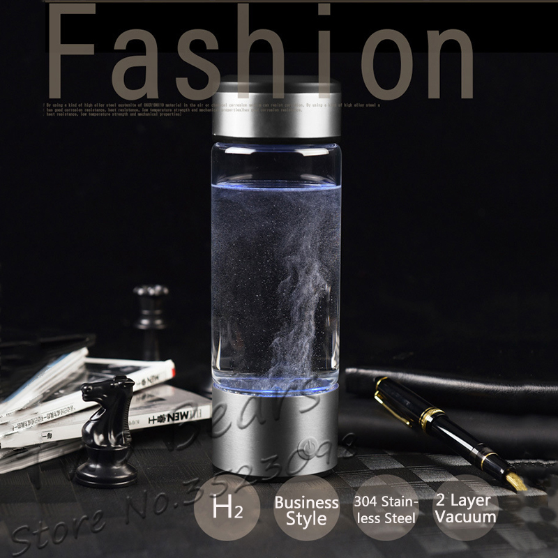 Rechargeable Rich Hydrogen Water Generator electrolysis Energy Hydrogen-rich Antioxidant ORP H2 Water Ionizer PP Bottle for cup usb rechargeable intelligent hydrogen rich water bottles ionizer portable glass maker ionizer generator 350ml super antioxidants