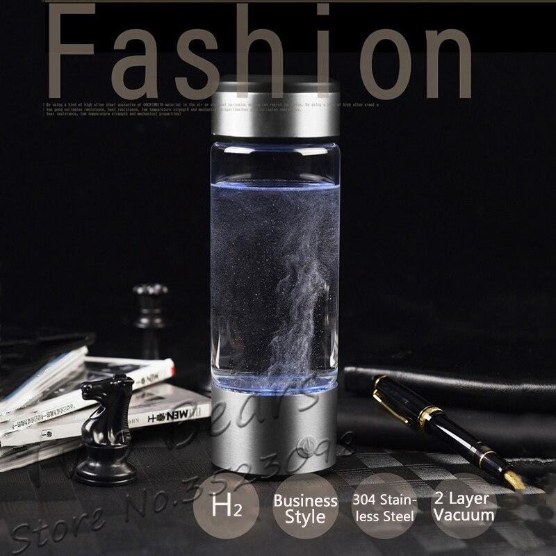 Rechargeable Riche Générateur D'hydrogène De L'eau électrolyse D'énergie D'hydrogène-riche Antioxydant ORP H2 Ioniseur D'eau PP Bouteille pour tasse