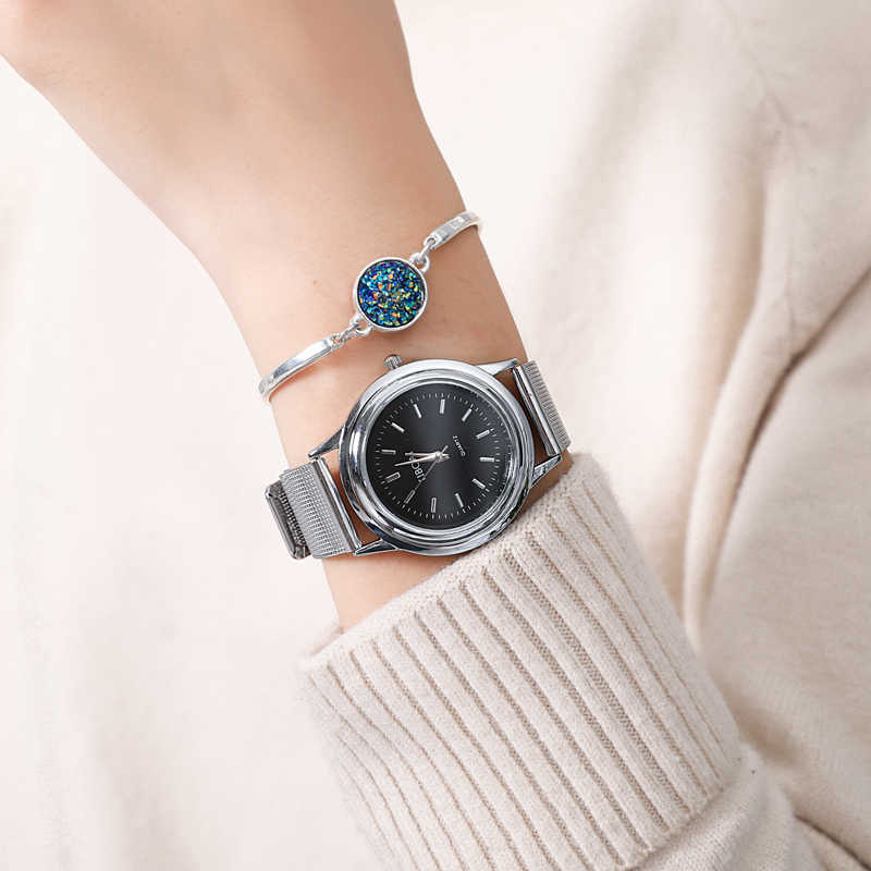2019 Brand Fashion Casual Quartz Watch Women Mesh Stainless Steel Dress Watches Ladies Bracelet Watch Relogio Feminino Dropship
