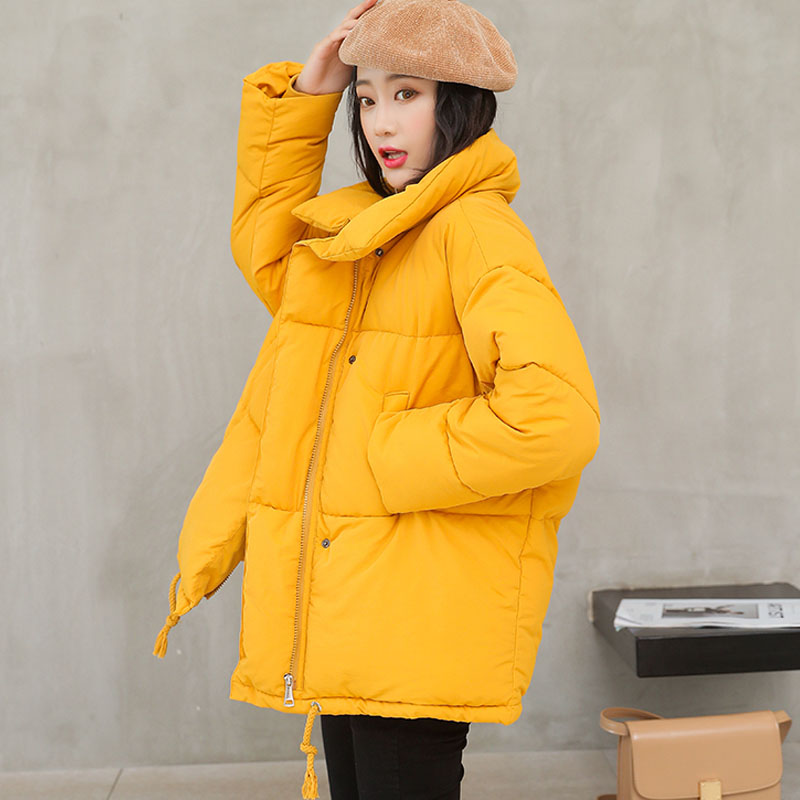 2019 Winter Coat Women Solid Outwear Medium-Long Wadded Harajuku Snow   Parka   thickness Cotton Warm Down Jacket Plus Size Outwear