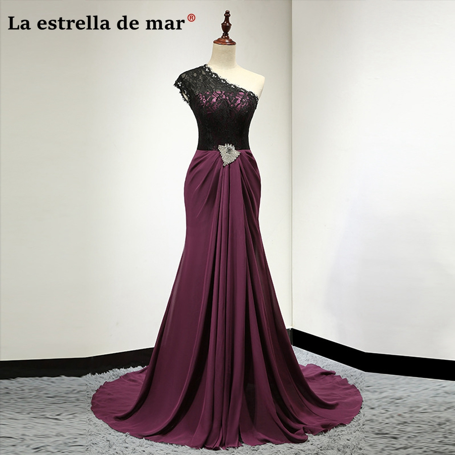 Vestido madrinha2018 new lace and chiffon black Burgundy sexy mermaid   bridesmaid     dresses   pretty robe rose demoiselle d'honneur