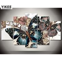 Diamond Embroidery Multi Picture Butterfly Full Square Diamond Mosaic Needlework Diy Diamond Painting 5pcs Animals