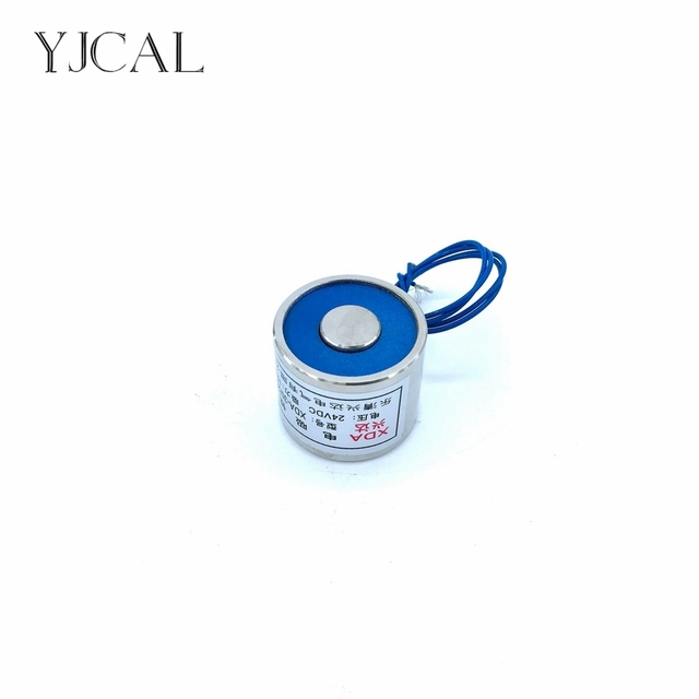 YJ-30/25 Holding Electric Sucker Electromagnet Magnet Dc 12V 24V Suction-cup Cylindrical Lifting 10KG Gallium Metal China