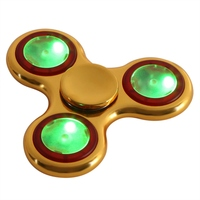 Hot Shining Luminous LED Lights Hand Finger Spinner As Function The Rainbow Spinning Toy Anti Stress