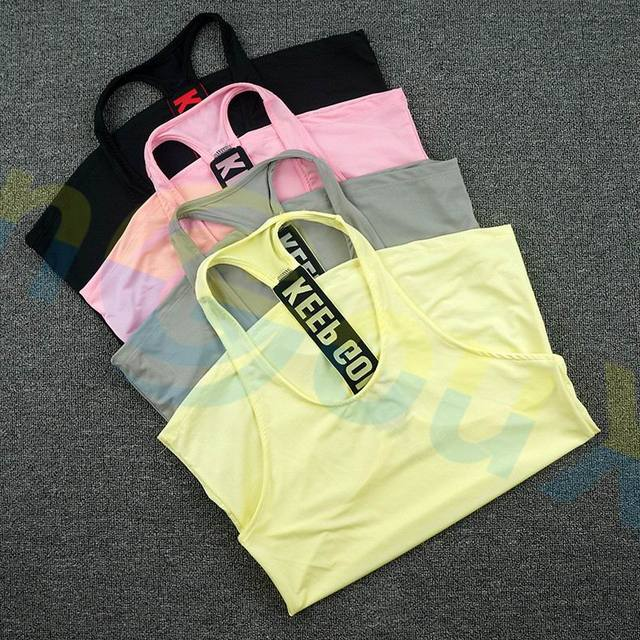 summer women Gym sports vest Sleeveless shirt Fitness running Clothes sexy Tank tops workout Yoga singlets Quick dry Tunics 4