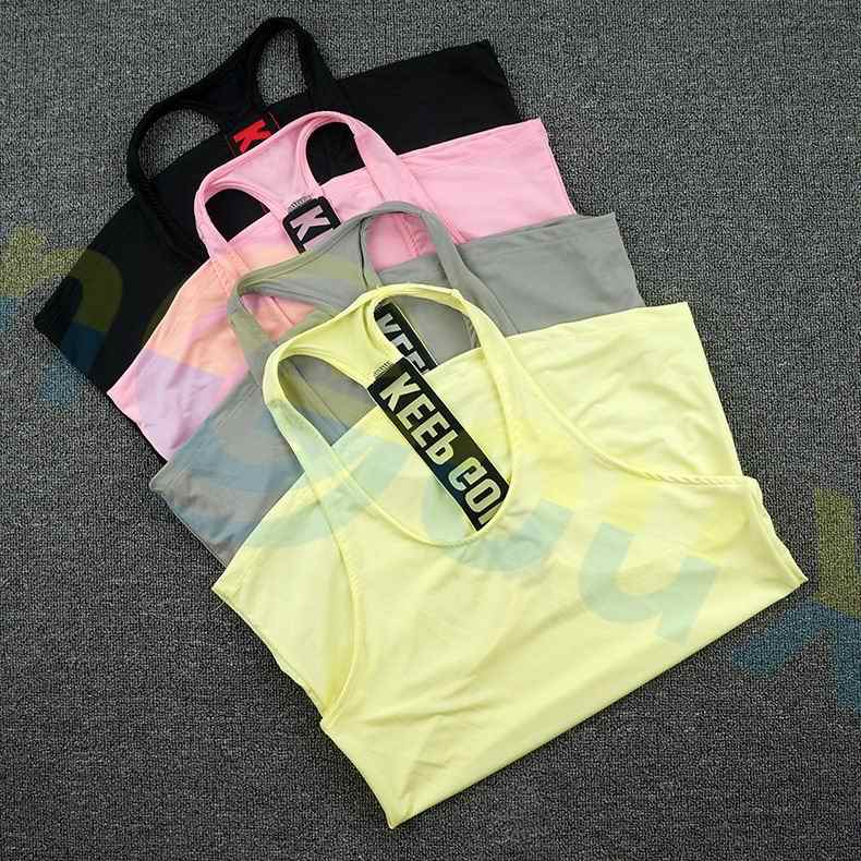 Débardeur de sport pour femme, vêtement d'été sans manches, pour Fitness, pour la course à pied, maillot de Yoga, séchage rapide