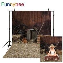 Funnytree fotografia backdground natal cidade ocidental casa de madeira celeiro palha foto estúdio pano de fundo outono photozone