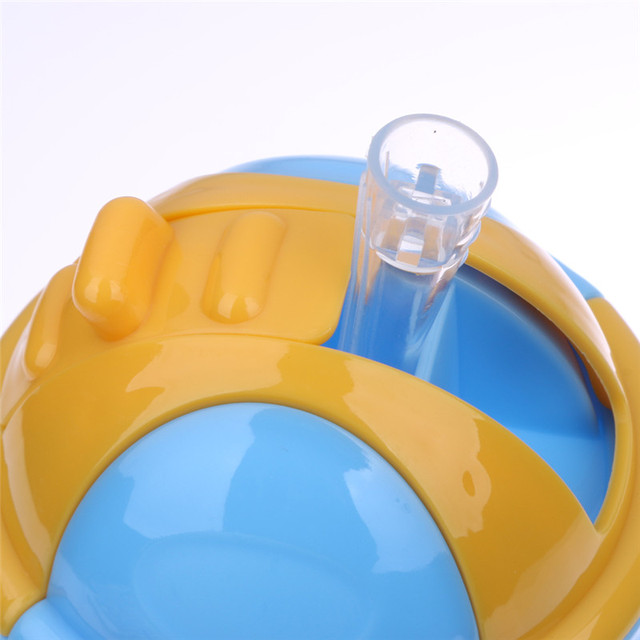280ml Cute Baby Cup Kids Children Learn Feeding Drinking Water Straw Handle Bottle mamadeira Sippy Training Cup Baby Feeding Cup 5