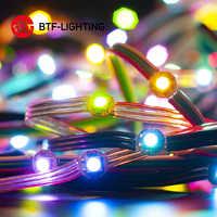 50 leds/string WS2812B Pixel RGB LED Modul Kühlkörper Bord Knoten Adressierbare Einzeln mit Bluetooth Musik Controller DC5V
