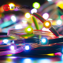 Boîte de batterie WS2812B, Module RGB LED, nœuds de carte dissipateur thermique 50 LED par chaîne adressables, alimentation individuelle par USB, prise USB, DC5V