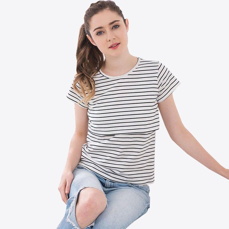 ccdaa918d Maternidad enfermería Tops camisetas ropa de lactancia para las mujeres  embarazadas lactancia materna Top camisetas del embarazo gestantes ropa  camisas