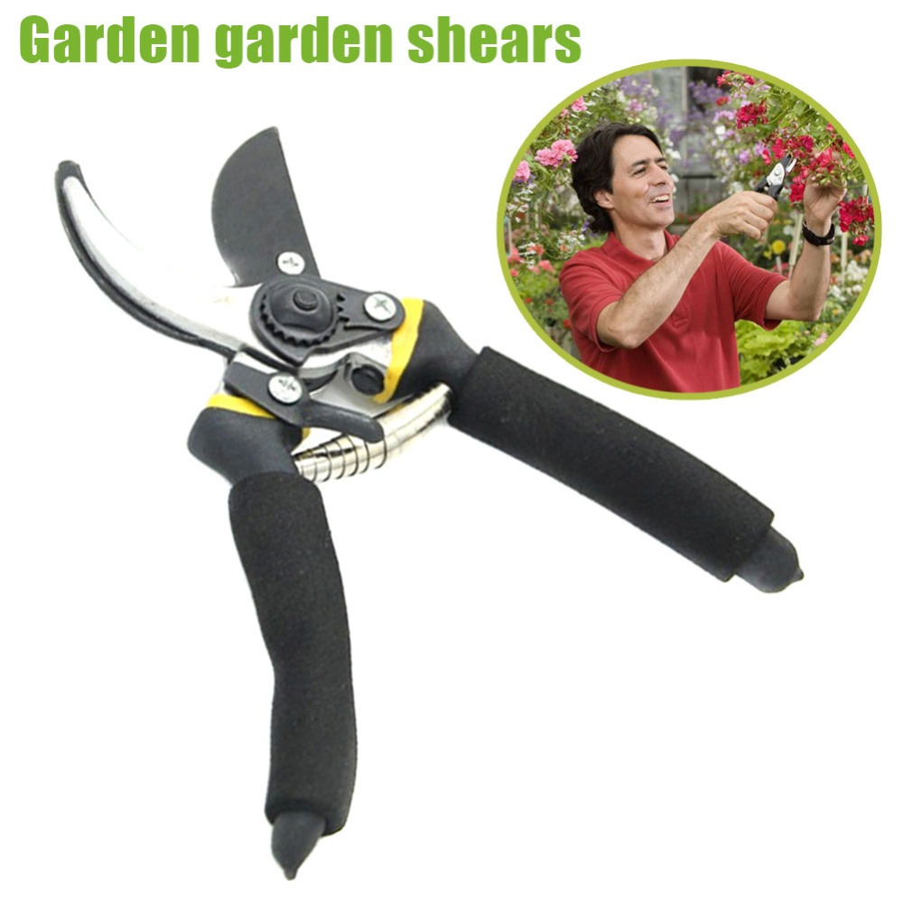 Купить с кэшбэком Pruning Shears Professional Gardening Plant Scissor Sharp Bypass Hand Pruner Shears with Safety Lock Tree Trimmers Secateurs