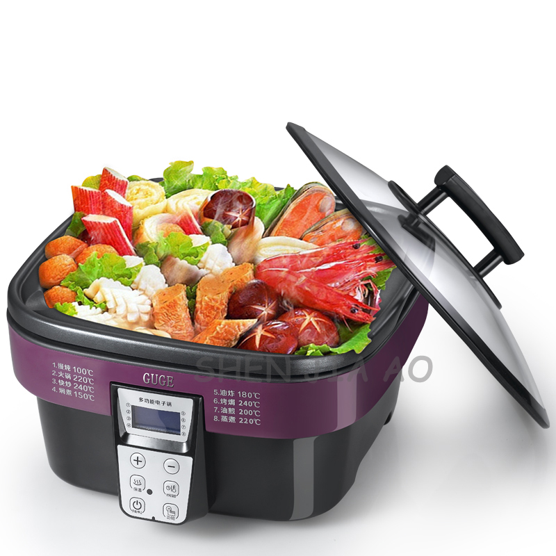 Household function multi-functional electric cooker AD-G909 non-stick electric cooker 5L multi-purpose electronic wok 220V