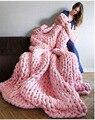 Venda quente Super Grosso Chunky Itinerante Fios Volumosos Grande Mão Tricô Fio de Lã para a Fiação Mão Knitting Crochet Cobertor
