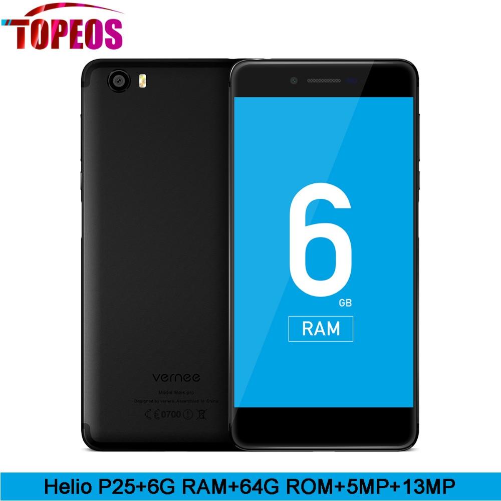 bilder für Vernee Mars Pro Helio P25 octa-core 6G RAM 64G ROM LTE Android 7.0 Handy 13.0MP 5,5 ''Handy Fingerabdruck Smartphone