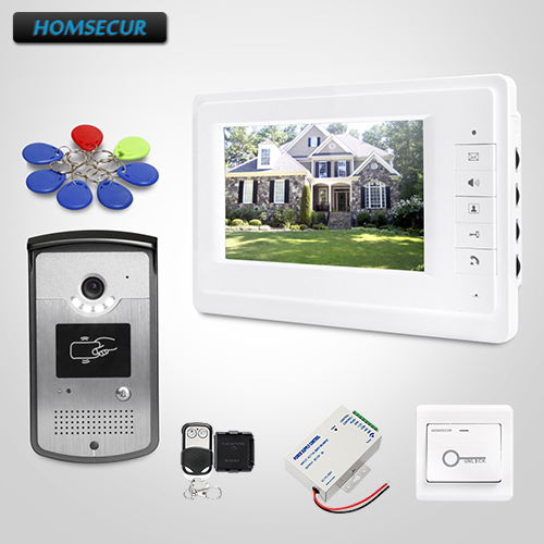 HOMSECUR RU Store Video Door Entry Phone Call System With IR Night Vision Camera+Big Promotion