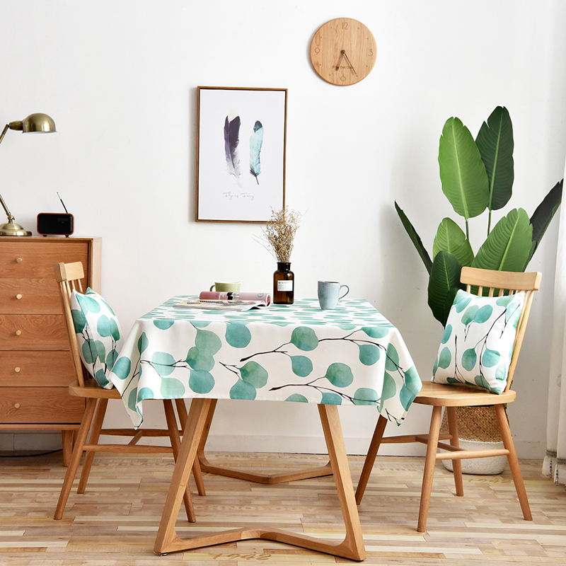 Simanfei Table cloth Rectangular Pastoral Style Leaf Printed Tablecloth Home Protection and decoration Elegant Table cover in Tablecloths from Home Garden