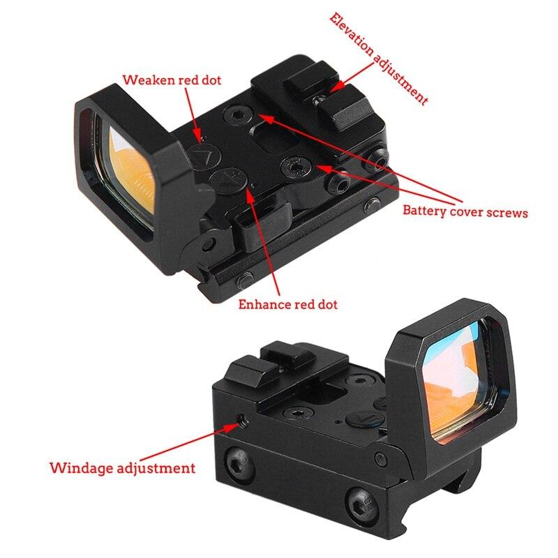 Pistol Scope Folding Reflex Red Dot Sight Flip Red Dot Sight 3 MOA Dot fit Glock