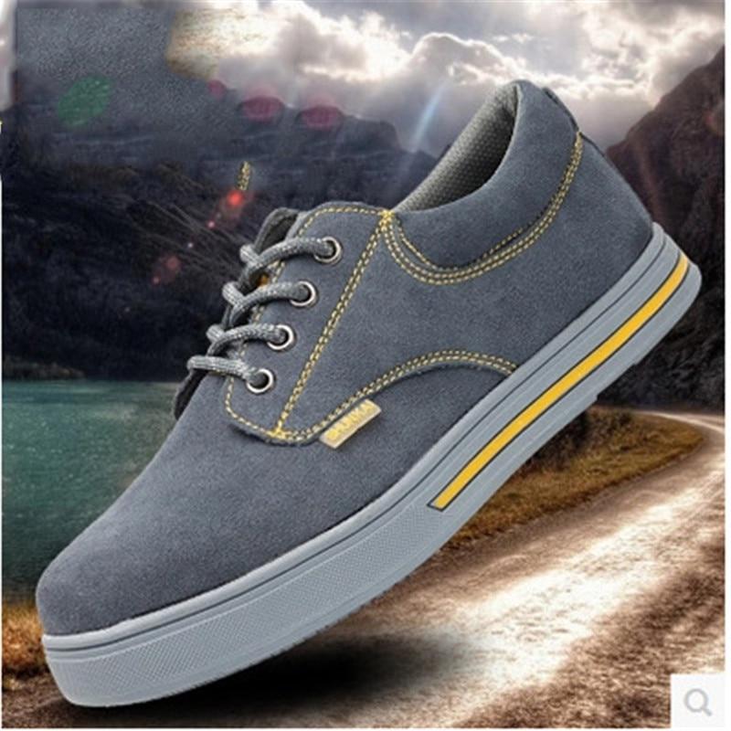 Respirant Travail Acier Chaussures Résistant Anti À De Rond En Lumière Slip Casual Bottes Sécurité Noir Hommes Chaud Bot L'usure gris Bout r8rXnB