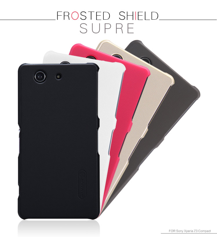 save off 13272 94531 US $7.59 |Original Nillkin Super Frosted Shield case for Sony Xperia Z3  Compact Z3 Mini +screen film + retail package on Aliexpress.com | Alibaba  ...