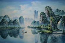 Ручная роспись Современная картина маслом на холсте Китай известный