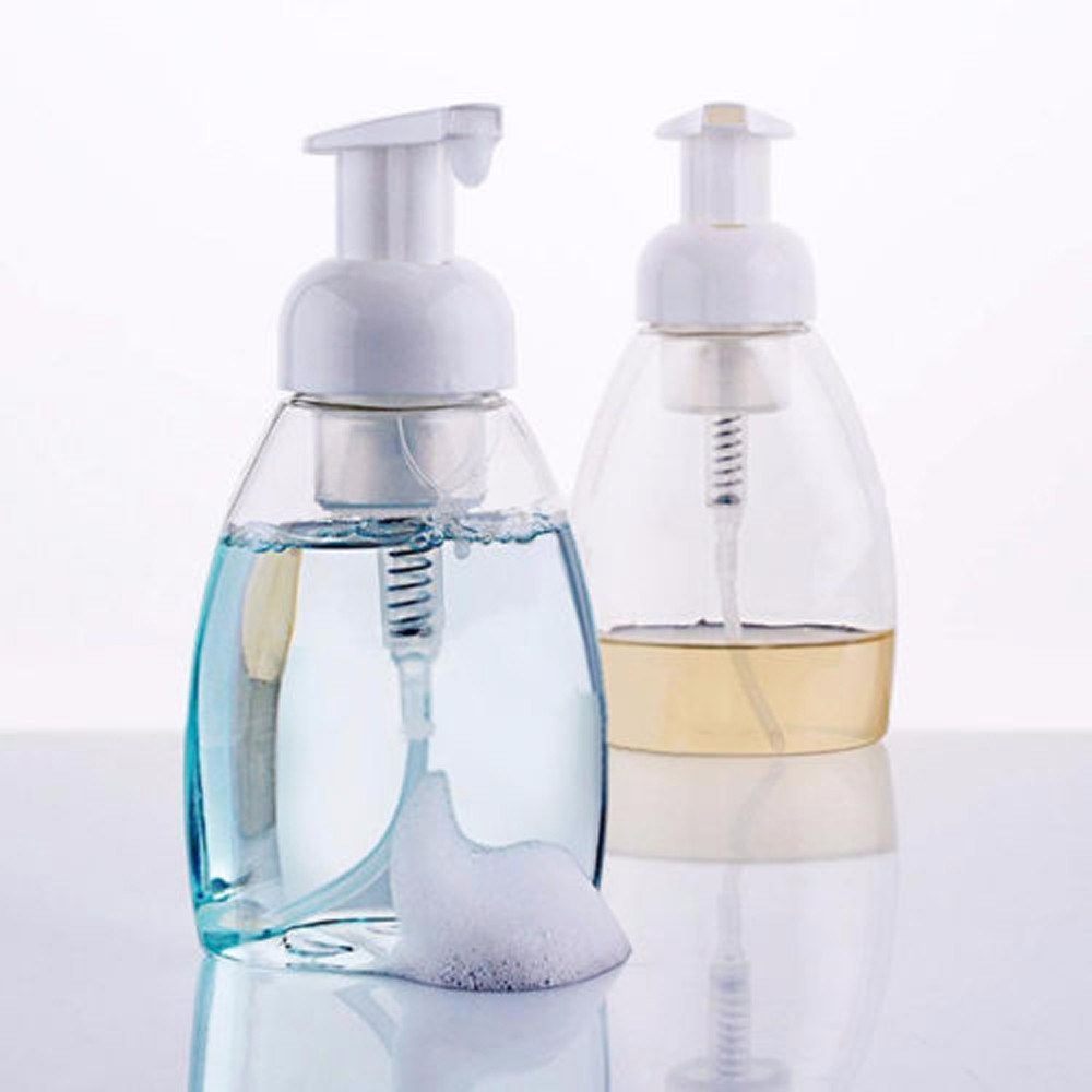 Have An Inquiring Mind 250ml Clear Foaming Bottle Liquid Soap Whipped Mousse Points Bottling Shampoo Lotion Shower Gel Foam Pump Bottles1.471 Colours Are Striking Liquid Soap Dispensers Bathroom Hardware