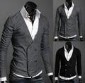 Outono inverno quente moda masculina cardigan com decote em v fresco lazer bonito malhas camisola para o sexo masculino