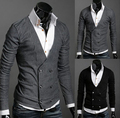 Winter Fall warm  men fashion cardigan v-neck cool leisure handsome sweater  knitwear for male