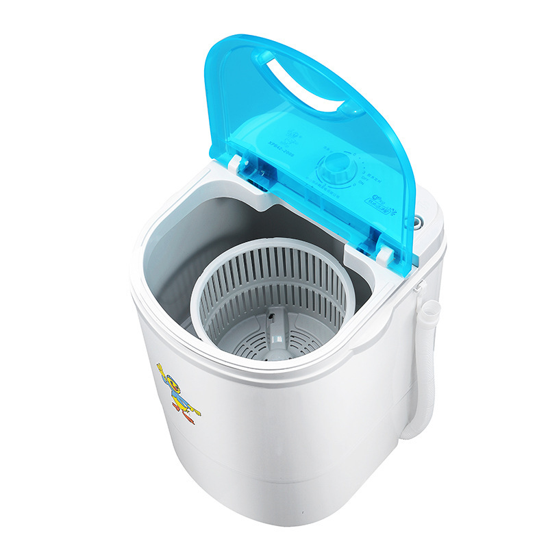 260w power Mini washer can wash 4.2kg clothes+260power 3kg dryer single tub top loading wahser&dryer Semi automatic dehydration image
