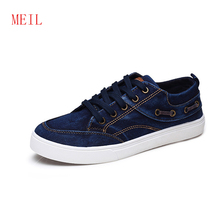 Brand 2019 Autumn New Men Casual Shoes Fashion Denim Canvas Shoes Flats Lace-up Chinese Traditional Craft Cotton Man Shoes Tenis 2016 spring and autumn high quality super light denim canvas fashion flats casual fashion brand free shipping men shoes