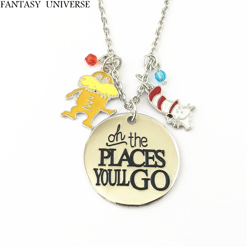 FANTASY UNIVERSE Free shipping 20pc a lot Dr Seuss charm necklace FDFGFDF01