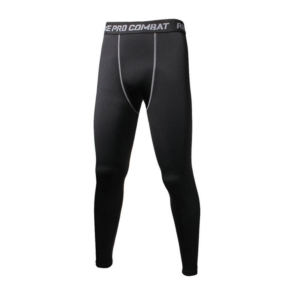 2017 Quick Dry Trousers Compression Pants Men Leggings Elastic Waist Pants Adult Full Length Men Skinny Leggings Bottom Pants