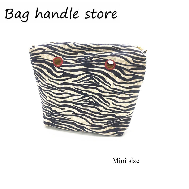 2018 New Inner Lining Zipper Pocket For Mini Size For Obag Canvas Insert With Inner Waterproof Coating For O Bag