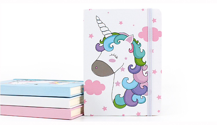 Marble A7 Unicorn Portable Planner Office School Schedule Stationery 96 Sheets Mini Notebook Organizer Cute Bullet Journals