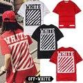 2017 Off White C/O Virgil Abloh Camisetas Hombres y Mujeres de la Alta Calidad 1:1 Kanye West De Algodón Hip Hop Ropa de Verano Blanco Camisetas
