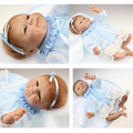 "18"" 45cm High Quality Silicone Reborn Babies Cute Silicone lifelike baby doll reborn baby girl doll"