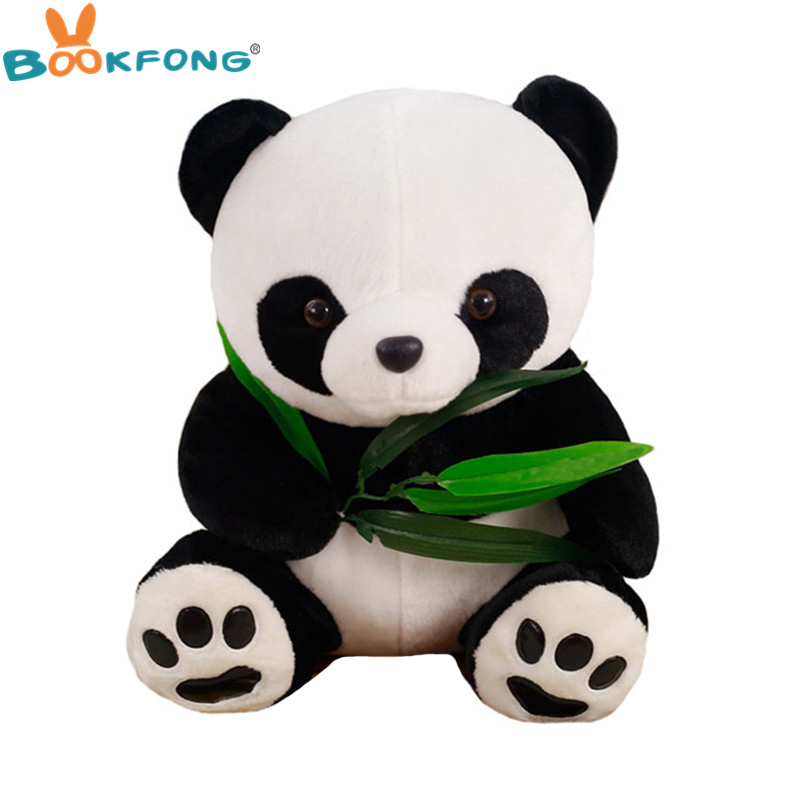 30CM Lovely Holding Bamboo Panda Plush Toys Chinese National Treasure Pandas Dolls Friend Gifts busy pandas