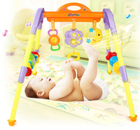 Famous Brand Beiens Baby Gym Bed Rattle With Music Flash Light Cartoon Cute Colorful Kid Sensor