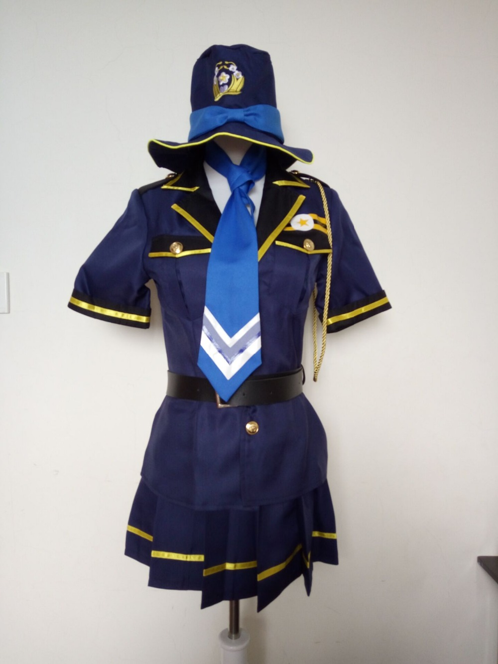 LOVE LIVE! Sonoda Umi Cosplay costume Police uniform ladies police cosplay costumes tops+skirt+belt+hat+badge