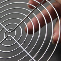 1 pcs Gdstime 14 cm Ferro Fãs De Metal Em Aço Inoxidável Net Net Grill Para 140mm x 140mm AC DC Fã Tampa Do Filtro