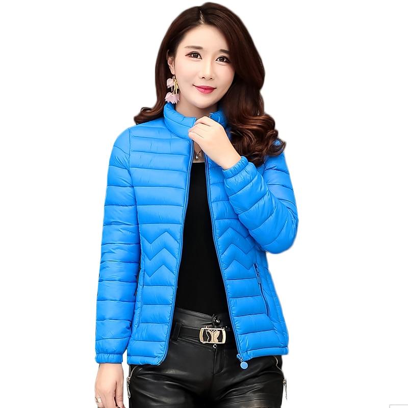 Women Autumn Winter   Parka   2019 Plus Size 5XL 6XL Jacket Coat Women short Outerwear Solid Thin light Padded Jackets Casual tops