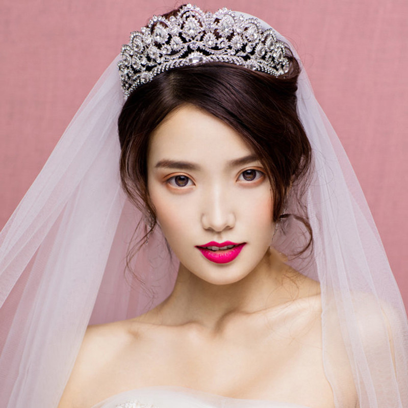 European Design Queen Crown Wedding Coroa De Noiva Rhinestone Hair Jewelry Women headpiece Party Bijoux Crystal Crown HG175
